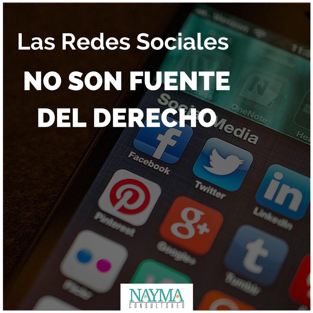 REDES SOCIALES FUENTE DEL DERECHO