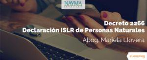 Declaración ISLR Personas Naturales